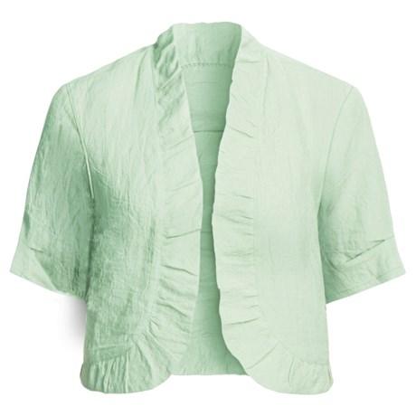 Two Star Dog Suki Crop Jacket - Crinkle Linen, Short Sleeve (For Women)
