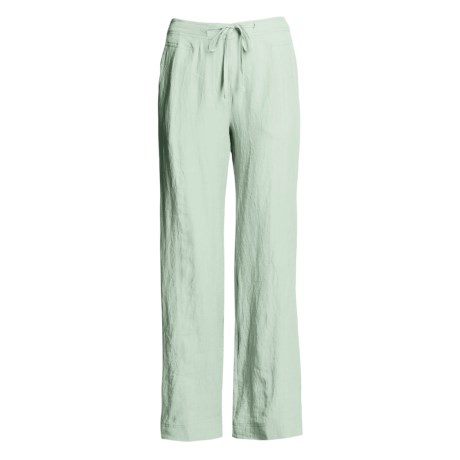 Two Star Dog Crinkle Linen Jane Pants - Contrast Stitch (For Women)
