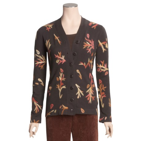 Madison Hill Cardigan Sweater - Embroidered (For Women)