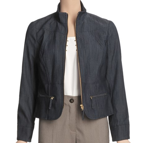 Madison Hill Textured Denim Jacket (For Women)