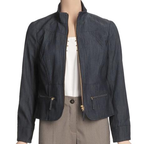 Madison Hill Textured Denim Jacket (For Women)