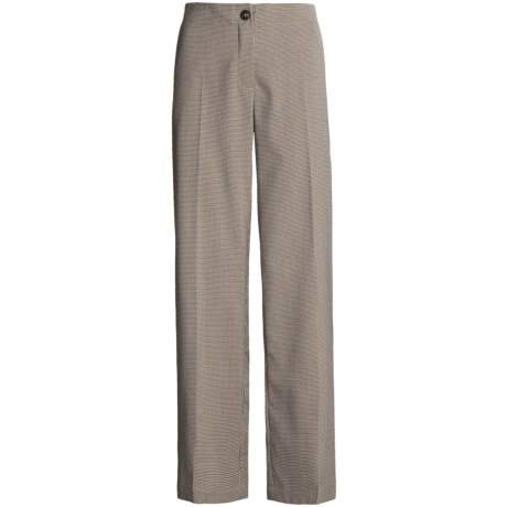 Madison Hill Mini-Houndstooth Pants - Flat Front (For Women)