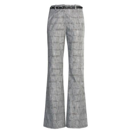 Madison Hill Dobby Glen Pants - Cotton-Linen (For Women)