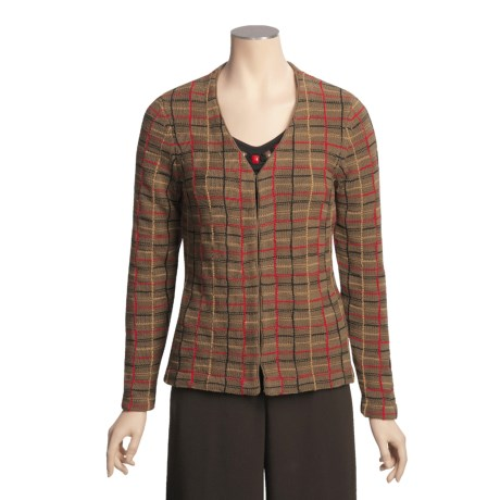 Madison Hill Plaid Sweater - Cotton-Rich (For Women)