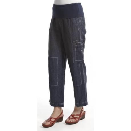 Two Star Dog Rochelle Crop Pants - Linen (For Women)