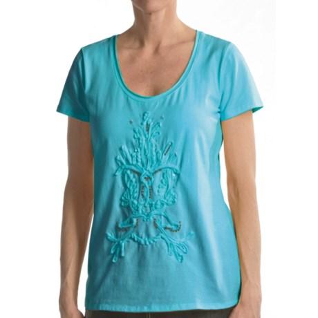 Two Star Dog Yana Shirt - Stretch Cotton Jersey, Short Sleeve (For Women)