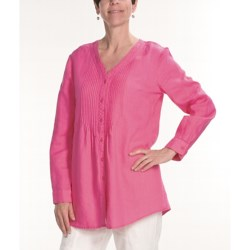 Two Star Dog Vicky Linen Tunic Shirt - Long Sleeve (For Women)