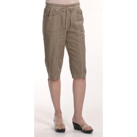 Two Star Dog Linen Capri Pants - Garment-Dyed (For Women)