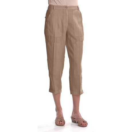 Two Star Dog Julia Crop Pants - Garment-Dyed Linen (For Women)