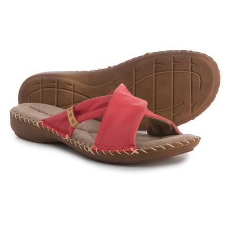 Marina Luna Comfort Cross Band Sandals - Leather (For Women)