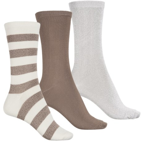 K.Bell Soft-and-Dreamy Socks - 3-Pack, Crew (For Women)