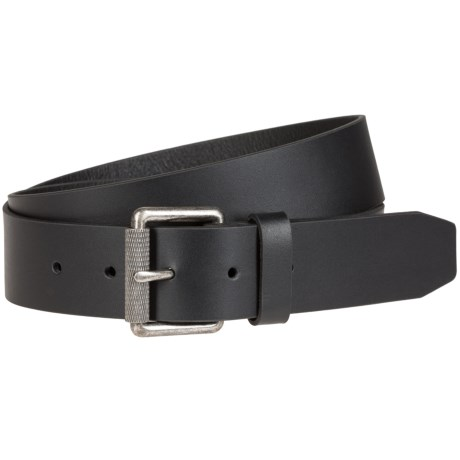Bill Adler Roller Buckle Leather Belt (For Men)