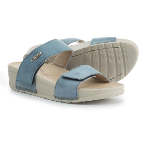 Fly Flot Two-Band Wedge Sandals - Nubuck (For Women)