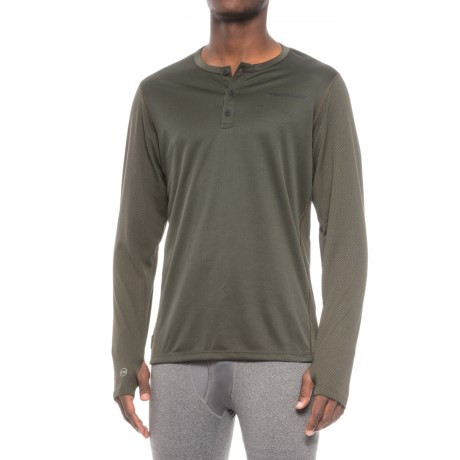 Homeschool Hard Core Days Base Layer Henley Top - Long Sleeve (For Men)