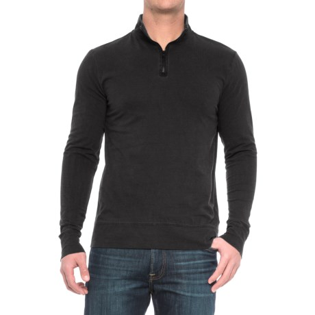 Threads 4 Thought Chad Sueded Jersey Shirt - Organic Cotton, Zip Neck, Long Sleeve (For Men)