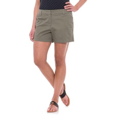 "British Khaki Slash-Pocket Shorts - 4"" (For Women)"
