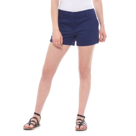 """Artisan NY Side-Lace Shorts - 4"""" (For Women)"""