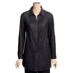 Renuar Crinkled Cotton Shirt - Tunic-Length, Long Sleeve (For Women)