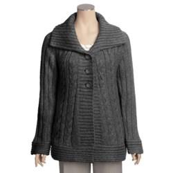 Renuar Heathered Cardigan Sweater (For Women)