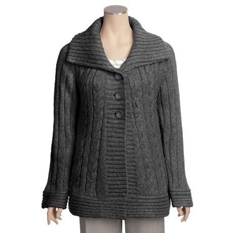 Renuar Heathered Cardigan Sweater (For Women)