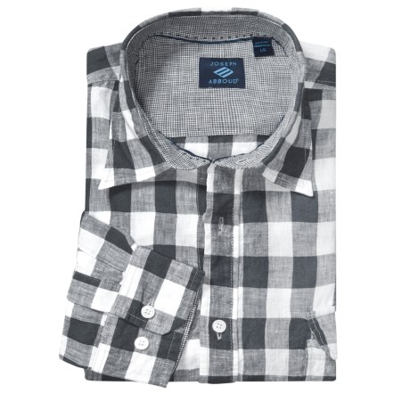 Joseph Abboud Linen Sport Shirt - Long Roll-Up Sleeves (For Men)