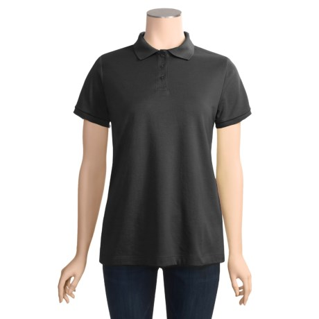 Cotton-Rich Polo Shirt - Short Sleeve (For Women)