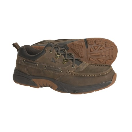 Rugged Shark Courier Boat Shoes - Leather, Low (For Men)