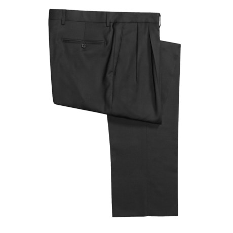 Pazoni by Santorelli Tropical Wool Dress Pants - Double Reverse Pleats (For Men)