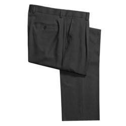 Santorelli Pazoni by  Italian Dress Pants - High-Twist Wool, Single Reverse Pleats (For Men)