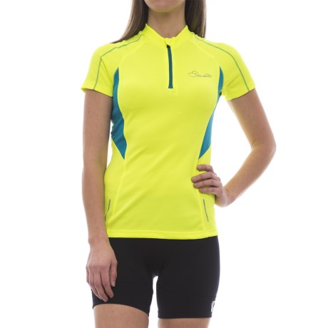 Dare 2b Configure Cycling Jersey - Zip Neck, Short Sleeve (For Women)