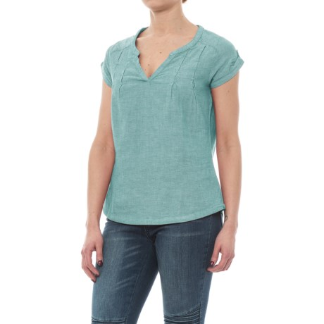 Royal Robbins Cool Mesh Shirt - Split Neck, Short Sleeve (For Women)