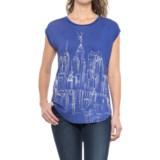 Krimson Klover Skyline Open-Back T-Shirt - Short Sleeve (For Women)