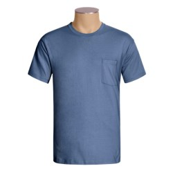 Hanes Open End Pocket T-Shirt - Cotton, Short Sleeve (For Men and Women)