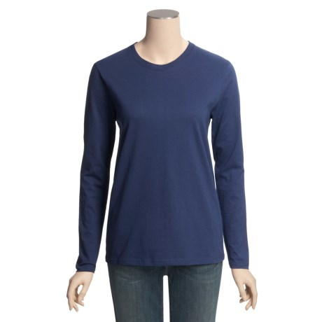 Hanes Relaxed Fit T-Shirt - Cotton, Long Sleeve (For Women)