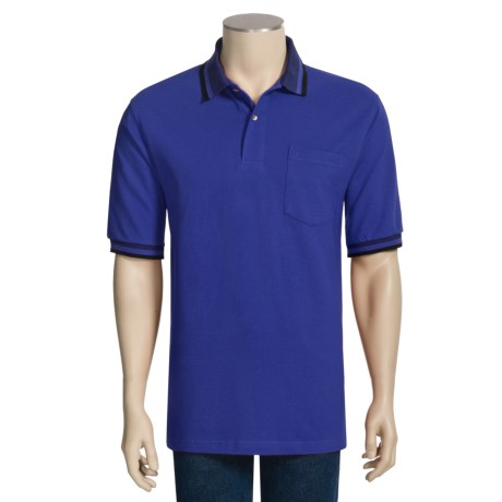 Outer Banks Birdseye Trim Polo Shirt - Cotton Pique, Short Sleeve (For Men)