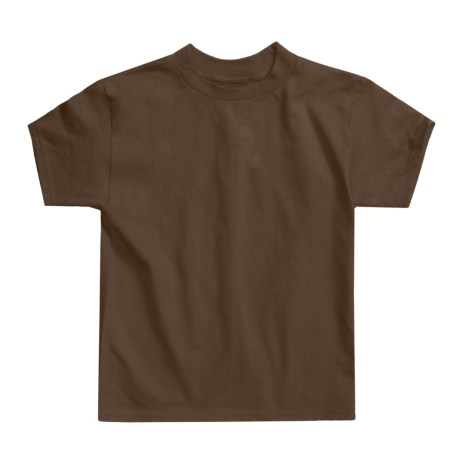 Hanes Authentic Open End T-Shirt - Cotton, Short Sleeve (For Little andBig Kids)