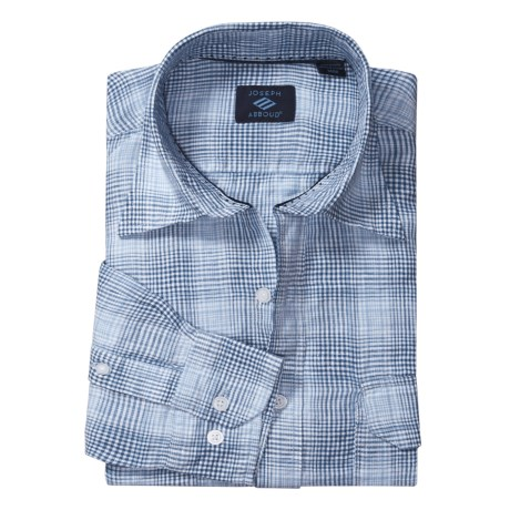 Joseph Abboud Linen Sport Shirt - Long Roll-Up Sleeve (For Men)