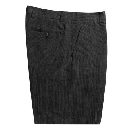 Bugatchi Uomo Striped Shorts - Linen-Cotton (For Men)