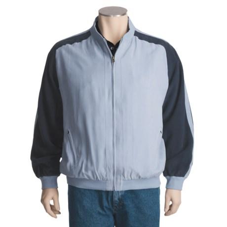 Bugatchi Uomo Casual Silk Jacket - Full Zip (For Men)