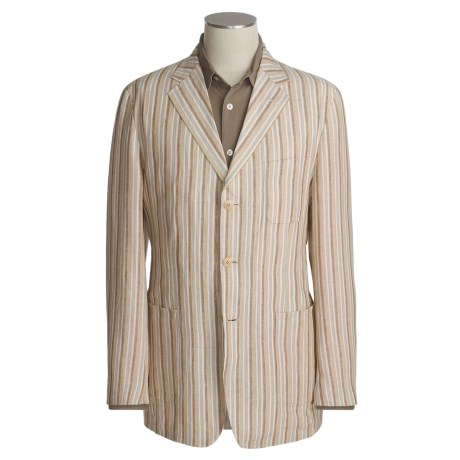 Bugatchi Uomo Striped Linen Blazer (For Men)