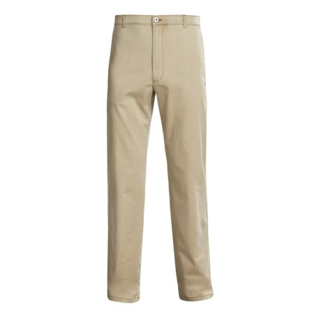 Bugatchi Uomo Cotton-Rich Pants - Flat Front (For Men)