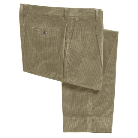 Bugatchi Uomo Corduroy Pants - Single Reverse Pleats, Cotton (For Men)