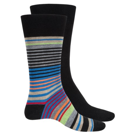 Top Flite Stripe and Solid Socks - 2-Pack, Crew (For Men)