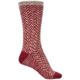 WISE BLEND Wise Blend Chevron Socks - Crew (For Women)