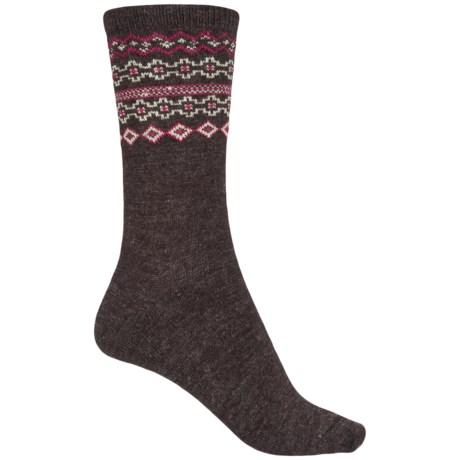 WISE BLEND Wise Blend Fair Isle Socks - Crew (For Women)
