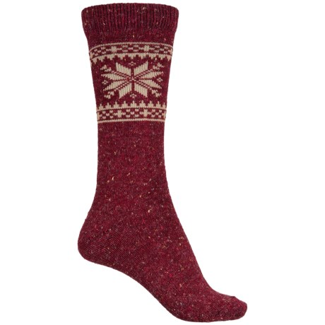 WISE BLEND Wise Blend Snowflake Socks - Crew (For Women)