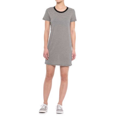 Specially made Striped Knit Dress - Short Sleeve (For Women)