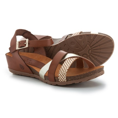 Yokono Made in Spain Capris 006 Wedge Sandals - Leather (For Women)