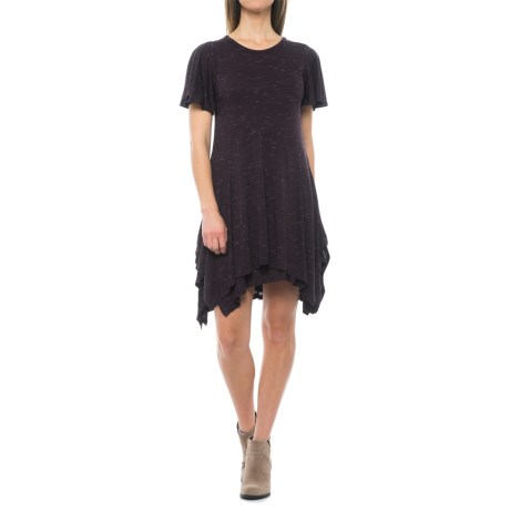 Specially made Handkerchief Stretch-Knit Dress - Short Sleeve (For Women)
