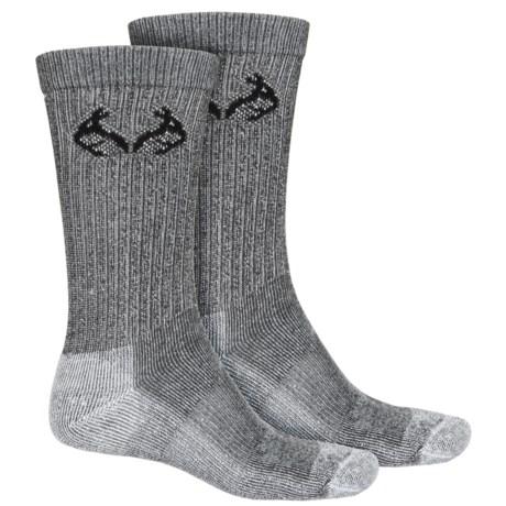 Realtree CoolMax® Hunting Socks - 2-Pack, Crew (For Men)